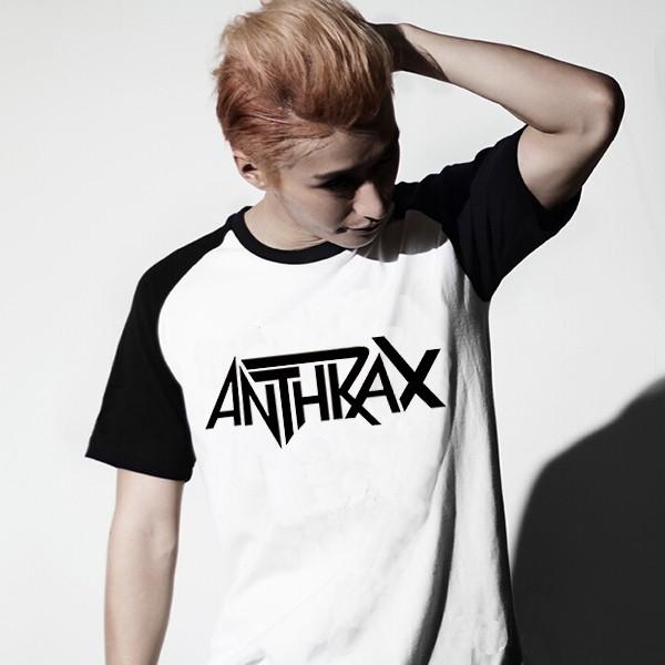 600PX Raglan Short Sleeve T-shirt Anthrax 1