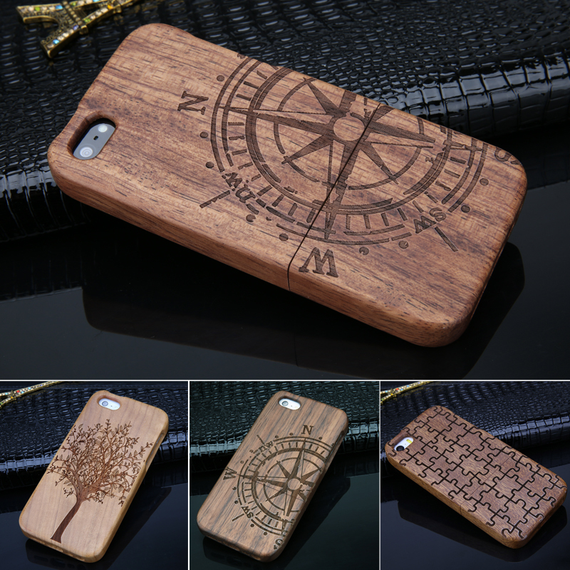 Style Bamboo Traditional sculpture Wood Hard Back Wooden Case Cover phone iphone 5G 5 5S SJ0009 - Sen Yuan International Co., Ltd store