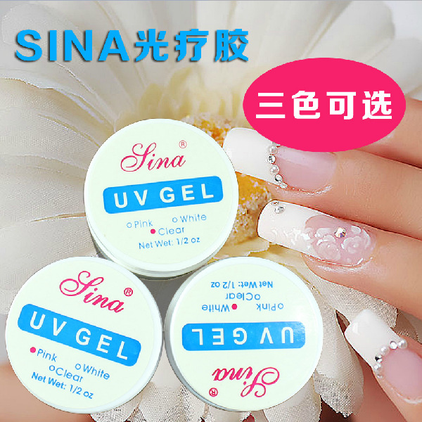 New Arrival UV Gel Nail Clear/Pink/White 3 Color Builder 1/2 oz UV Gel Nail Art Tips Salon Tools 6PCS<br><br>Aliexpress