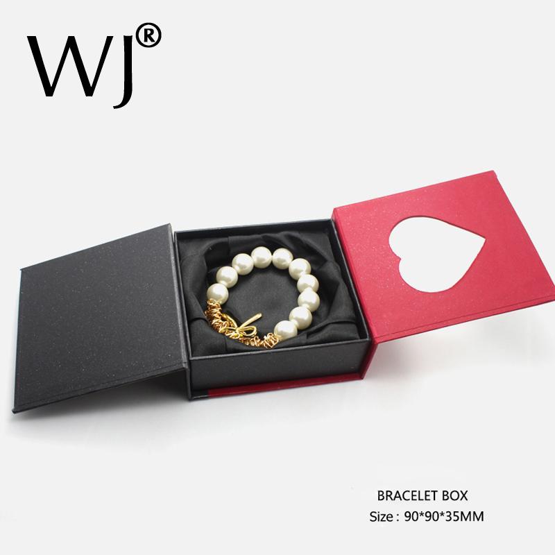 Luxury Jewelry Gift Bracelet Bangle Presentation Boxes Silk Filled Anklet Chian Jewellery Display Storage Organizer Case 9x9cm(China (Mainland))