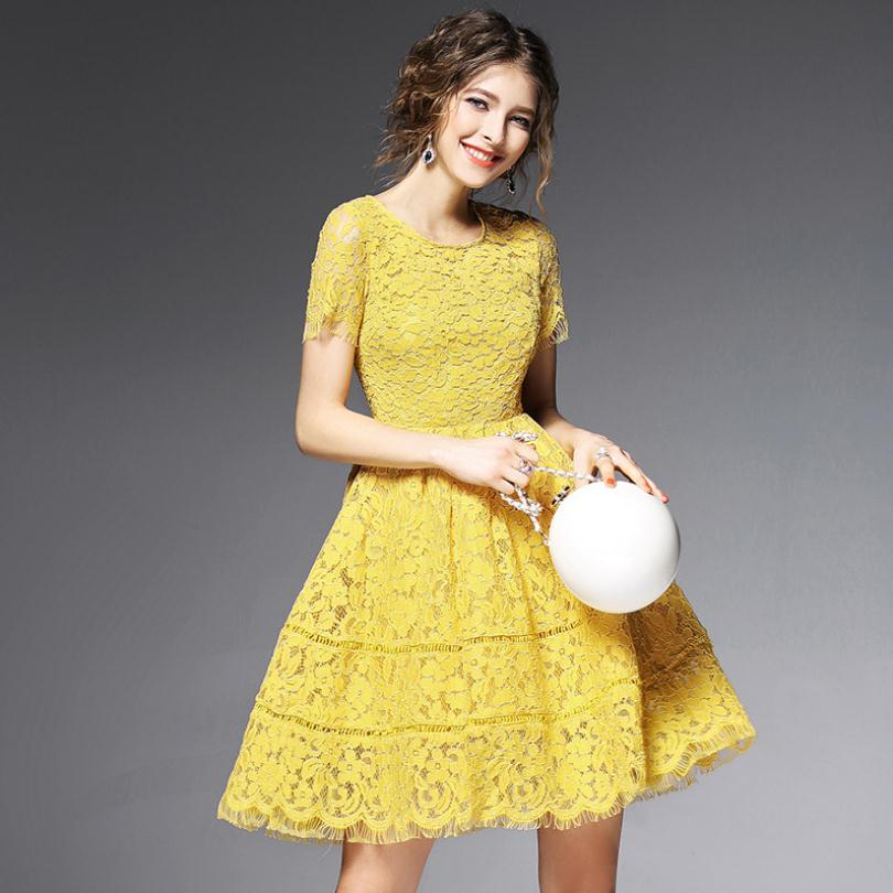 Women Summer Lace Dress Fashion Vestidos De Fiesta Dollar Price Office Sundress Clothing Celebrity-inspired Dresses B4354(China (Mainland))