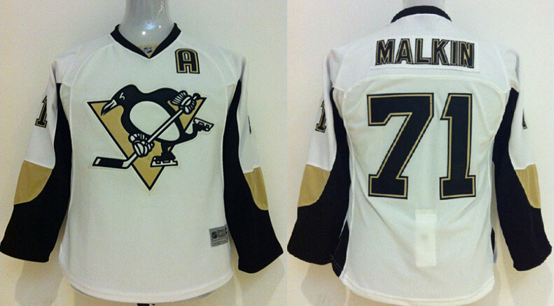 Wholesale Pittsburgh Penguins Kids Jerseys #71 EVGENI MALKIN White Ice Hockey Jerseys Accept Retail And Mixed Orders<br><br>Aliexpress