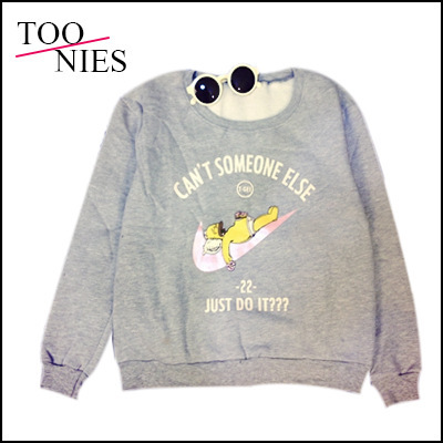 New 2015 Autumn women's Cartoon Printed Thickening Hoodies T shirt long Sleeve Loose Casual Pullovers tops Blusas 149(China (Mainland))