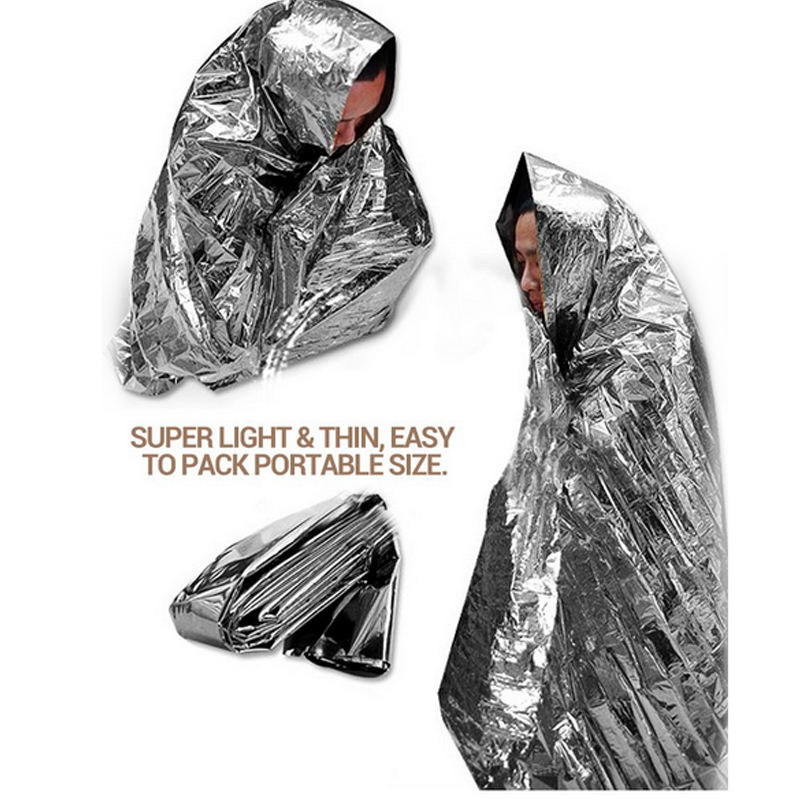 Quality Emergency Blanket for First Aid Rescue Waterproof Heat Insulation Reflective Ripstop Blankets Outdoor Survival Tool(China (Mainland))