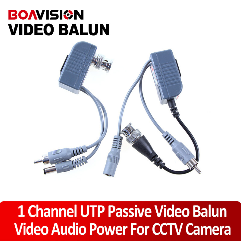 CCTV CAT5 RJ45 Balun Video Audio Power Camera Passive Transceiver - Shenzhen Boavision Technology Co.,LTD store
