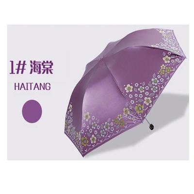 Fancy umbrella Heaven folding sun UV Ms. lightweight vinyl pencil sun s clear umbrella free shipping(China (Mainland))