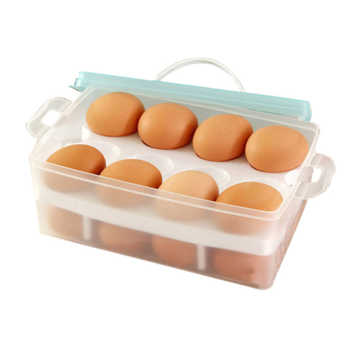 Fantastic Double Layer Refrigerator Food 24 Eggs Airtight Storage container plastic Box 0528(China (Mainland))