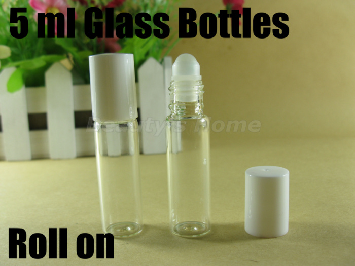 5ml roll on perfume bottles glass empty small perfume refillable bottle lip gloss container free shipping wholesale#1905(China (Mainland))