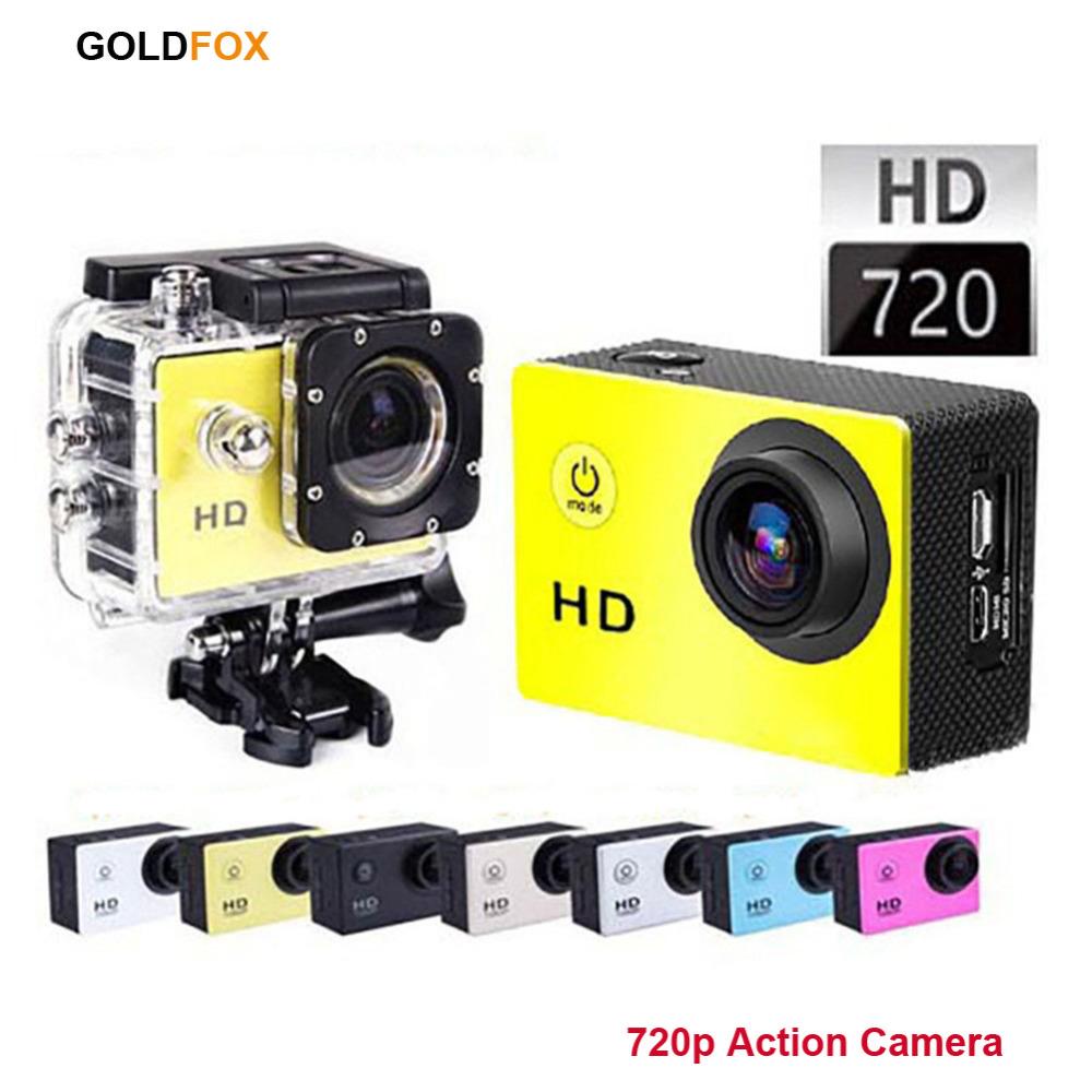 GOLDFOX Brand SJ4000 Waterproof  Sport Action Camera 720P HD Helmet Bike Car Styling Dvr Mini Camcorders<br><br>Aliexpress