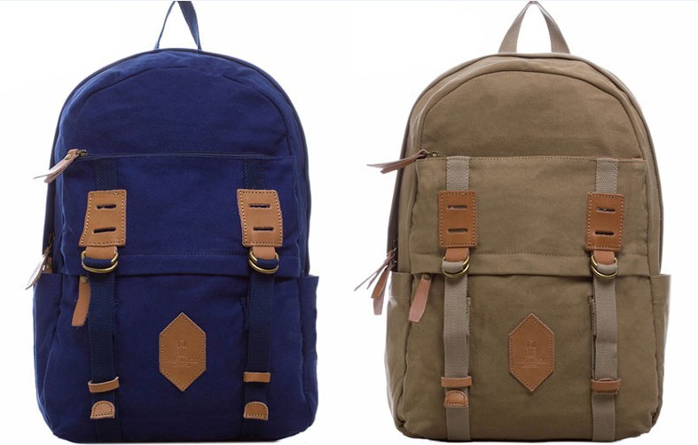 Blue UNISEX's Canvas Backpack,Best School Backpack High School,Classic Campus Backpack,14 Laptop Computer - Eco-Life Jewelry Beads store