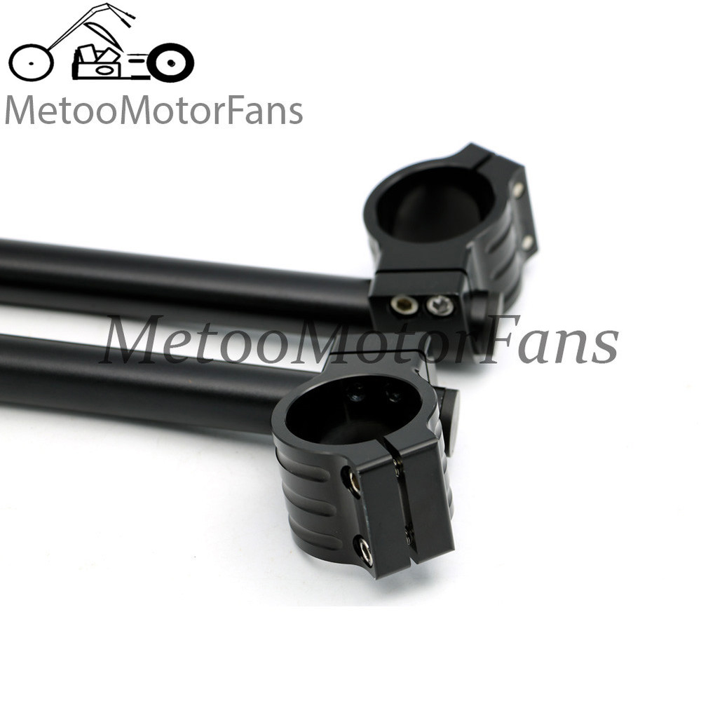 Motorcycle Universal Racing CNC 33MM 35MM 37MM 41MM 45MM 46MM 48MM 50MM 51MM Clip on Ons clipon Fork handlebars Black One pair<br><br>Aliexpress