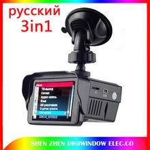 new Russian version 3in1 HD tachograph Traffic warning device GPS Tracker Radar Detector Car DVR Camera dvr recorder(China (Mainland))