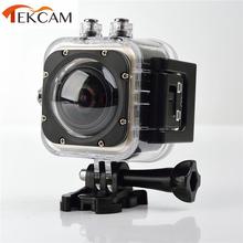 original TEKCAM 360 degree camera action all view virtual reality glasses 3d camera fisheye 1440p @ 30fps wifi sport camera(China (Mainland))