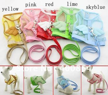 Pet dog Mesh Sport Harness With Leads,pet Harness,15pcs/lot,free shipping
