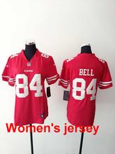 A+++ Women ladies all stitched San Francisco 49ers Joe Montana 42 Ronnie Lott 80 Jerry Rice 82 Torrey Smith 81 Anquan Boldin(China (Mainland))