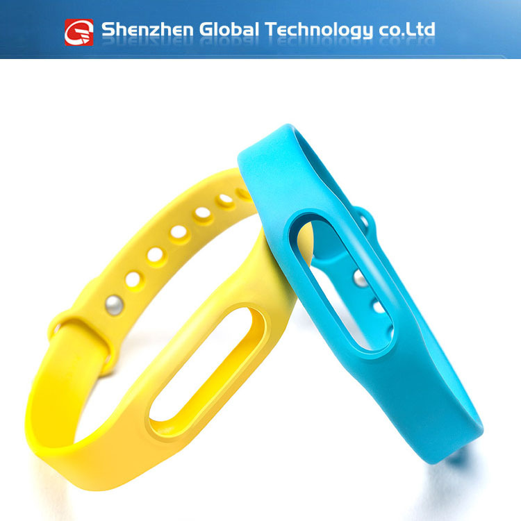 100% Original Genuine Replacement Silicone Colorful Xiaomi Miband Smart Bracelet Wrist Strap Band Watch - Shenzhen Global Technology co.,ltd store