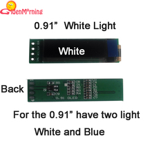 "0.91""  OLED display module, 128 x 32 px resolution,  white characters in black background, 14-pin(China (Mainland))"