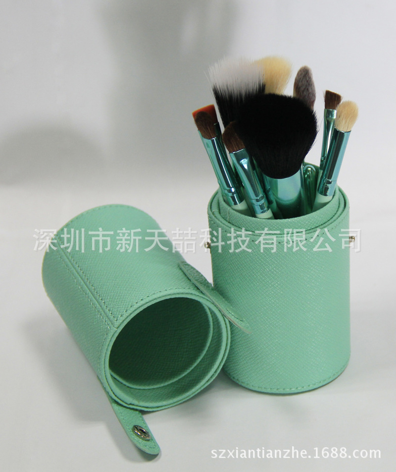 12 Blue cylinder makeup brush Amazon aliexpress eBay explosion models manufacturers selling spot price<br><br>Aliexpress