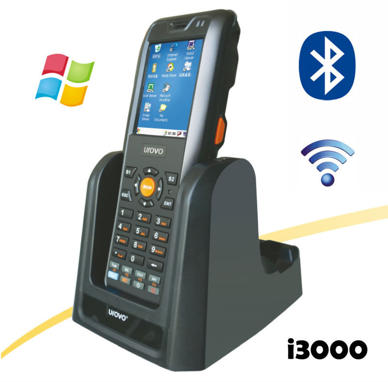 China TOP Quality i3000 Handheld Industrial Terminal PDA 2 Core CPU WIFI Bluetooth Barcode Scanner Windows Mobile Handheld PDA(China (Mainland))