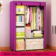 Bedroom furniture wardrobe Simple folding closet High performance non-woven wardrobe prevent dust cloth wardrobe Receive ark(China (Mainland))