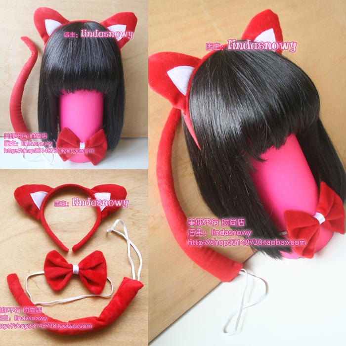 Cos props animal piece set hair accessory headband hair bands panda ears