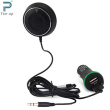 Wireless Car Kit Bluetooth V4.0 NFC AUX Music Audio Receiver Adapter Hands-free 3.5mm Built-in Microphone with Dual USB Charger