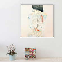 Watercolor Japanese Sexy Naked Tatooed Girl Hipster Fish Art Prints Poster Wall Picture Canvas Painting No Framed Bar Home Decor(China (Mainland))