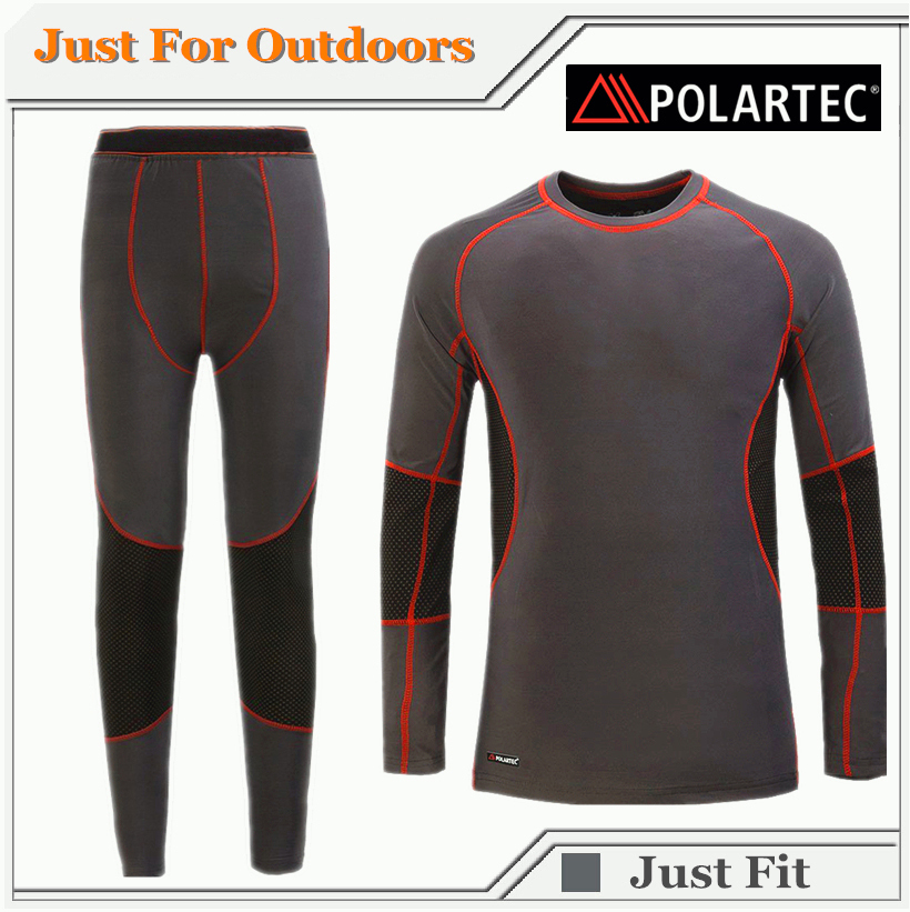 2015 Polartec Thermal Underwear Men Thermal Quick Dry ANTI-MICROBIAL Thermal Underwear For Hiking Camping Skiing Free Shipping(China (Mainland))