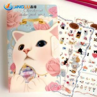 Гаджет  Jetoy Lovely Cat Diary Partner Sticker Suit/Decorative Laminated, Diary Deco Stick # Jetoy None Офисные и Школьные принадлежности