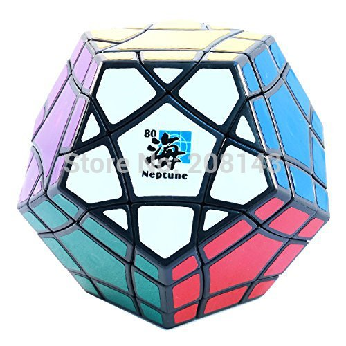 MF8 Megaminx Bermuda Triangle Neptune Black Puzzle Cube Twisty Puzzle(China (Mainland))