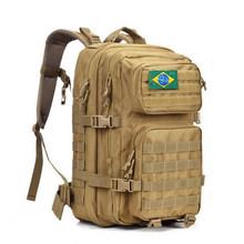 Francês Logotipo 1000D 50L Homens Do Exército Ao Ar Livre Tático Militar Mochila Molle Saco Para Camping Caminhadas Caça Montanhismo À Prova D' Água(China)