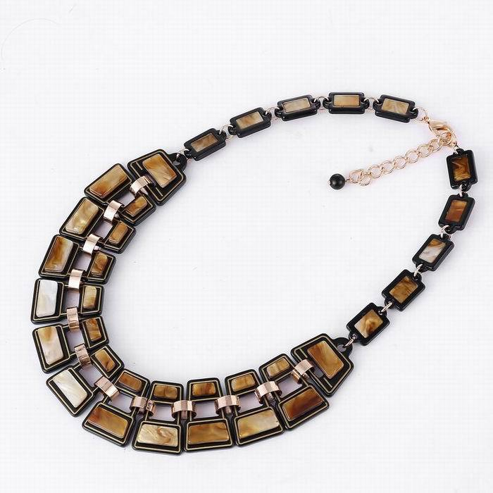 2015 fashion necklaces pendants Chain Link long necklace declaracan plated acrylic Bling and women fashion jewelry necklace