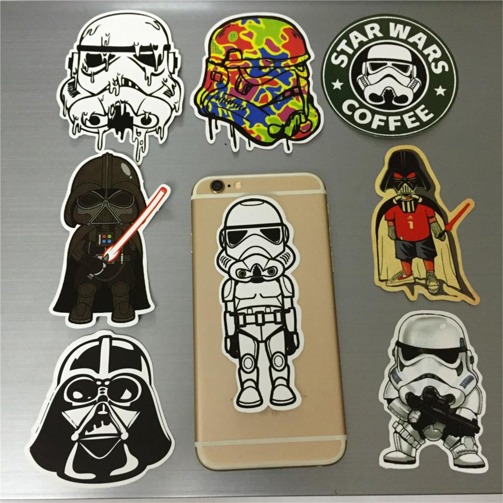 8pcs Glossy Waterproof Removable Doodle Decoration Car Styling Cool Car Stickers for Tablet Mobile Laptop Motorcycle Bike decal(China (Mainland))