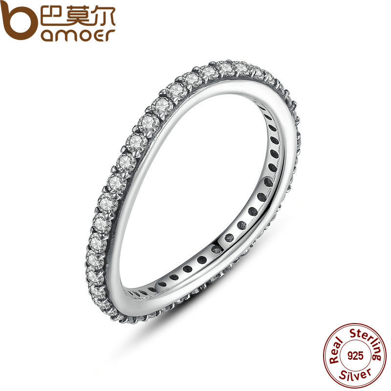 BAMOER New 925 Sterling Silver Rings for Women Irregular Crystals Ancient 925 Silver Wedding Rings Jewelry #6 7 8 PA7171(China (Mainland))