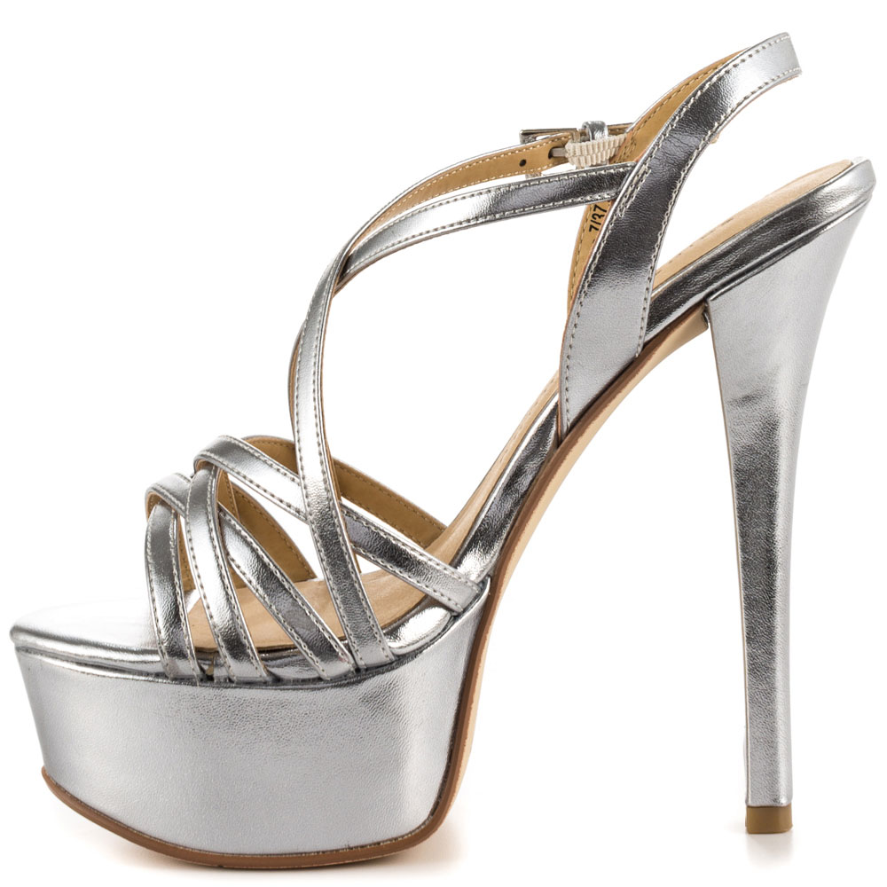 Silver Heels For Cheap