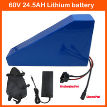 Buy Free customs tax 3000W 60V Triangle battery 60V 24.5AH Lithium bicycle battery Use Sanyo 3500mah cell 50A BMS 2A Charger for $815.00 in AliExpress store