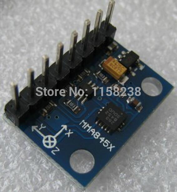 MMA8452 module Digital triaxial accelerometer module Sensor module Tilt module(China (Mainland))