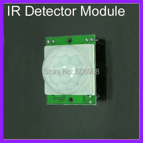 5pcs/lot HC-SR501 IR Detector Module PIR Sensor Security Infrared Pyroelectric Sensor Detector Module Free Shipping(China (Mainland))