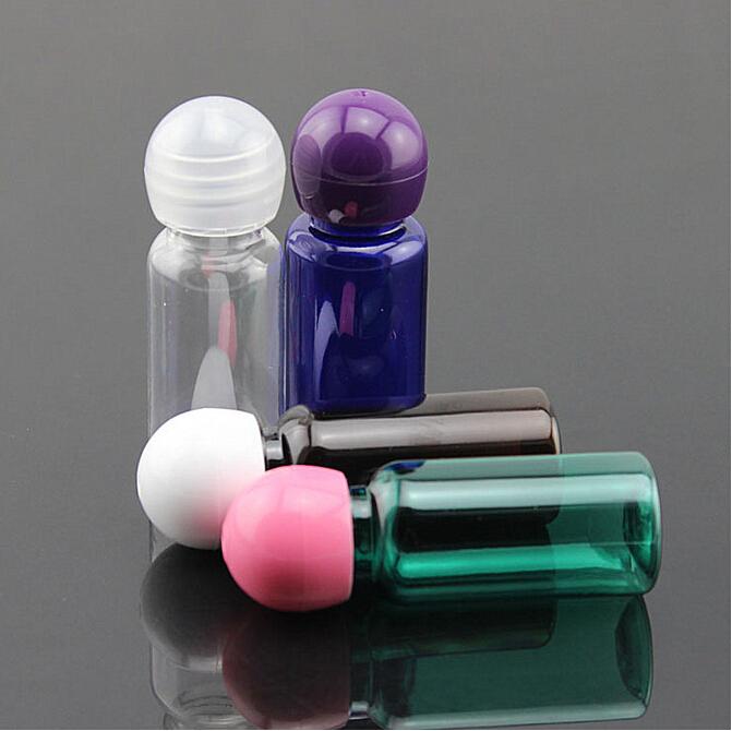15ml, PET bottles , Refillable Perfume Shampoo Transparent Bottle , Empty Perfume Travel Lotion Sub-Bottles with Ball Cap(China (Mainland))