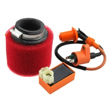 6-pin CDI Ignition Coil and Air Filter for GY6 50cc ATV 38mm Dirt Bike Go Kart Moped and Scooter.