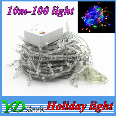 LED String Light LED Flasher 10M 100 Light Waterproof Multicolour xmas Decoration Lamp RGB/Red/green/blue/white /warm white<br><br>Aliexpress