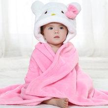 newborn swaddle super soft comfortable  Kid Toddler hooded Cloak quilt fleece wrap btrq0005(China (Mainland))