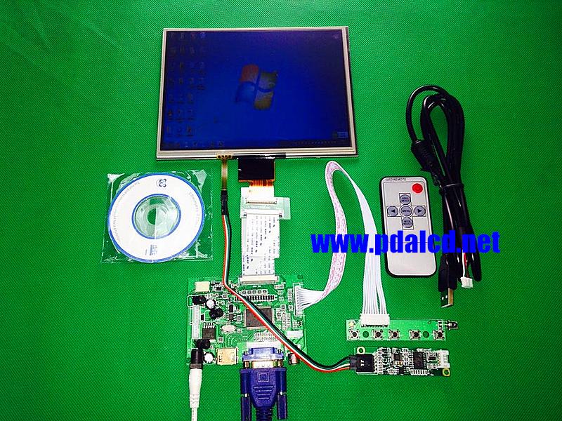 HDMI/VGA/AV Control Driver Board +Touchscreen + 8inch HJ080IA-01E 1024*768  IPS high-definition LCD Display For Raspberry Pi <br><br>Aliexpress