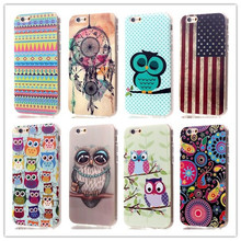 Wholesale New Cute Cartoon Owl Pattern Soft TPU Case For Apple iphone 5 5S SE 5SE 5E 7C Cover Phone Bag Protective Shell
