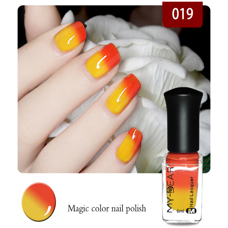 Hot Sale Pregnant women,children all can use non-toxic and tasteless water-based nail polish can tear variable color temperature(China (Mainland))