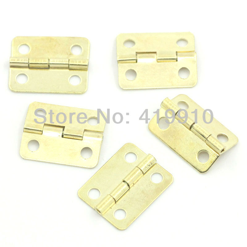 Гаджет  Free Shipping-50pcs Gold Plated 4 Holes Box Butt Hinges 19x16mm  M25701B None Аппаратные средства