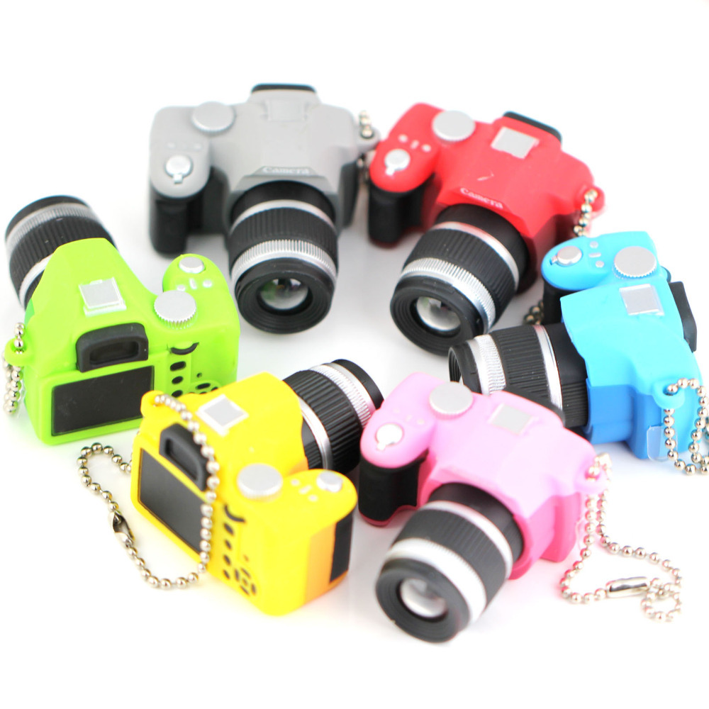SLR Camera Model Keychain Creative Fashion Accessories Colorful Kaca Sound LED Light Flash Keyring Key Chain Ring Keyfob(China (Mainland))