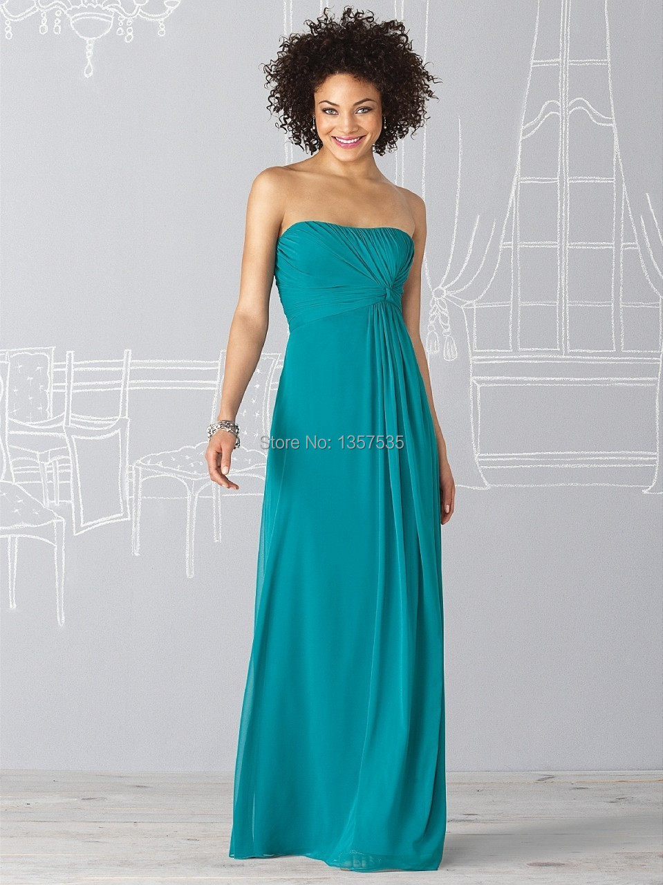 New arrival 2014 turquoise bridemaid dresses pleat vestido for Turquoise bridesmaid dresses for beach wedding