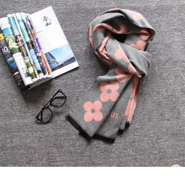 Cashmere Fabric Winter Floral Scarf Women Scarves Ukraine Fashion 2016 Japan Scarfs Christmas Gifts Travel Korean Cape Bandana