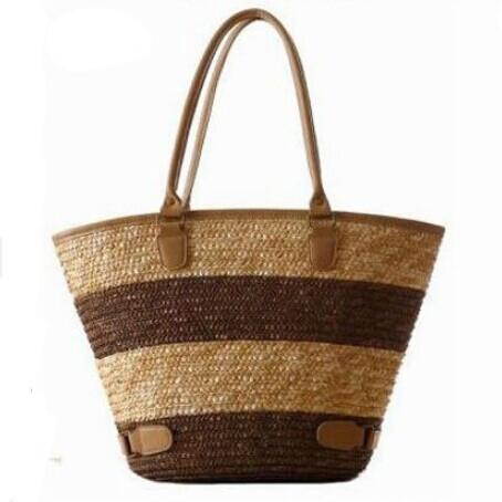 2015 Fashion Nice Straw Handbags New Women Style Straw Summer Beach Tote Big Shoulder Bag Purse Handbag Straw Beach Bag<br><br>Aliexpress